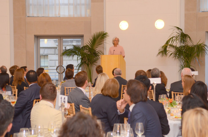 Christine Lagarde speaks at the WFLS gala on June 4, 2013.